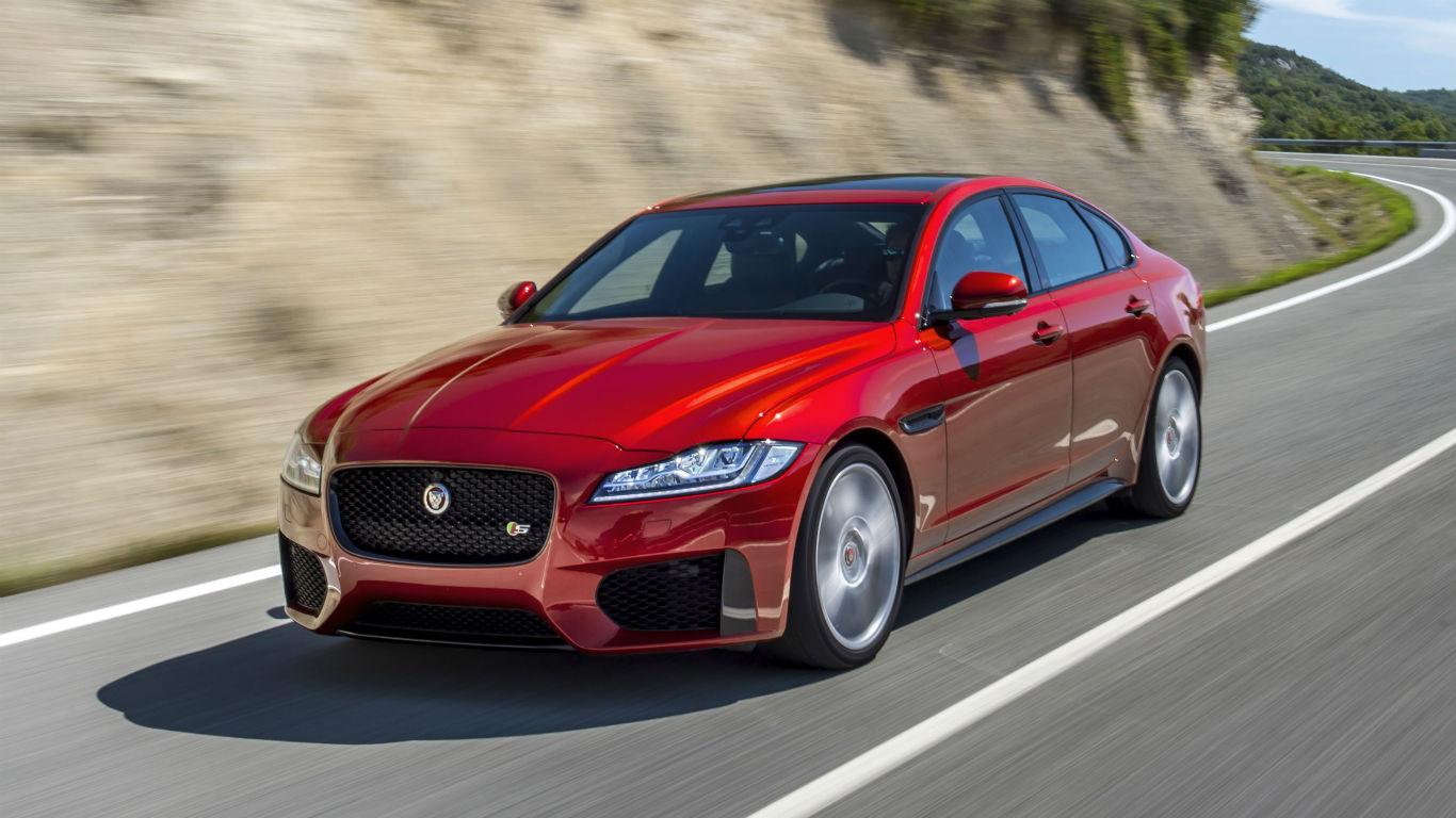 автомобиль ягуар красный фото череда радиусных полочек